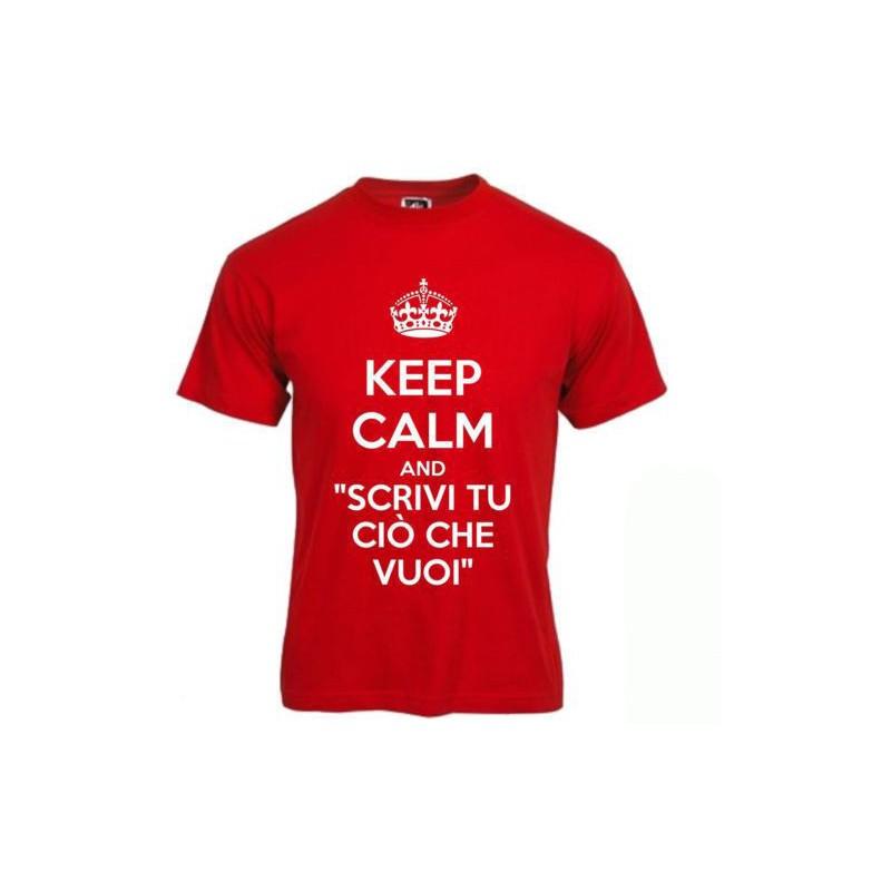 Preferenza T-Shirt Keep Calm personalizzata a tuo piacimento CJ67