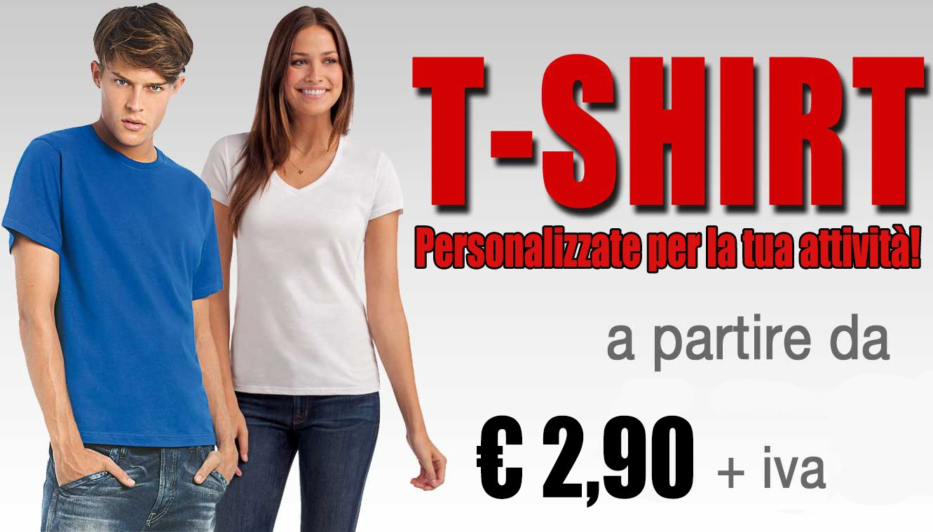 Le t-shirt per la tua attività
